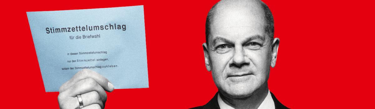 WÄHLE SPD – PER BRIEFWAHL!